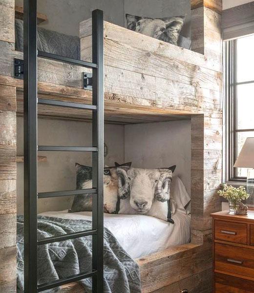 двухъярусная кровать скандинавский интерьер