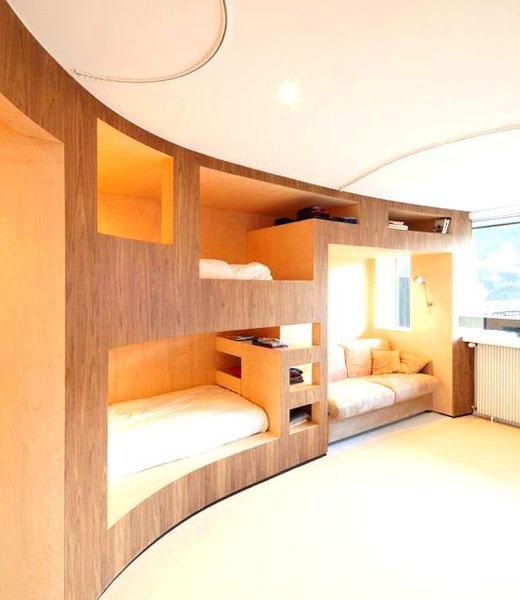 встроенные радиусные кровати