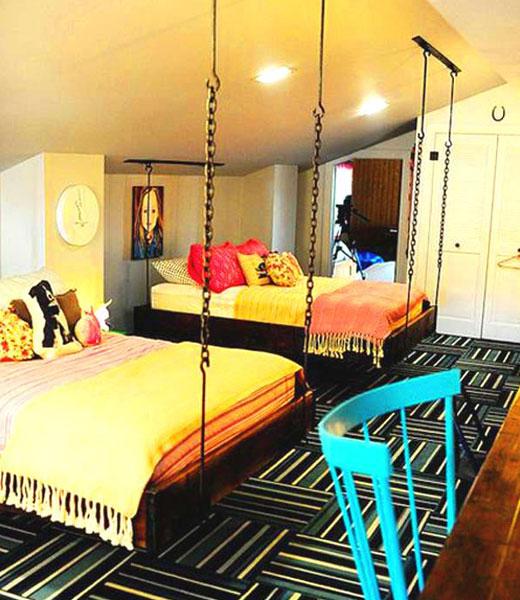 подвесные кровати в детской