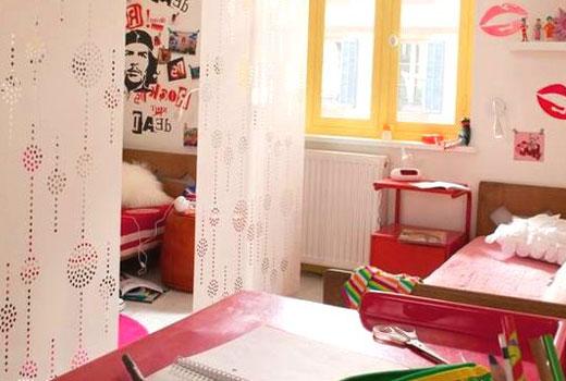 Японские шторы панели в детской
