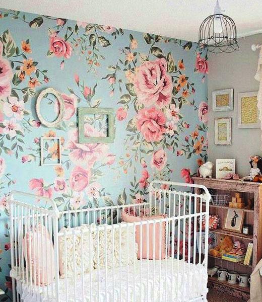 обои для комнаты девочки розы