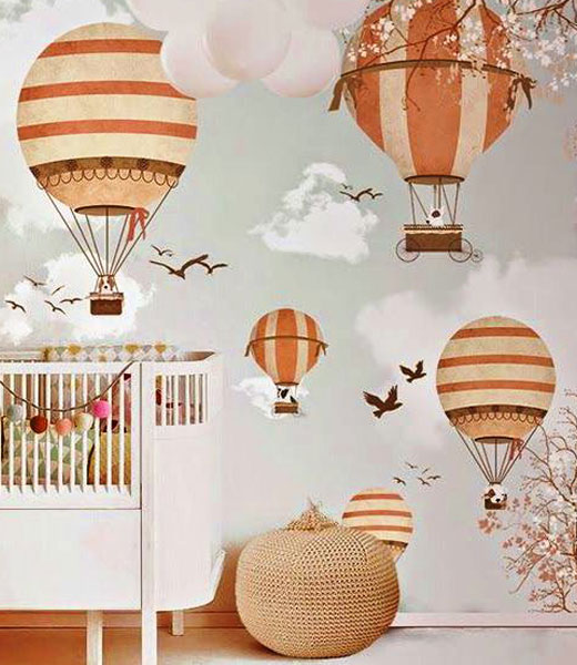 обои в детскую воздушные шары