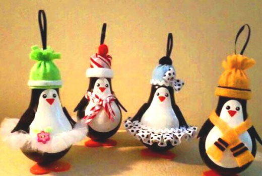 декор новогодний пингвины