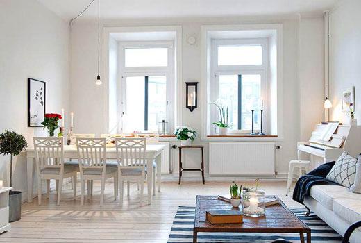 Белый дизайн комнаты