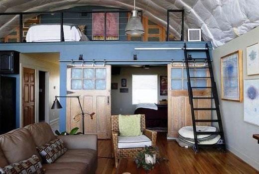 арочный дом изнутри