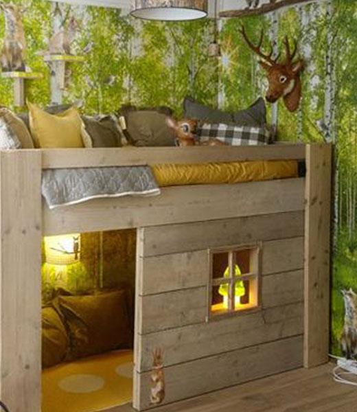 Хижина в лесу - дизайн детской