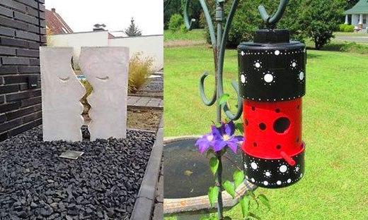 Простые украшения для сада