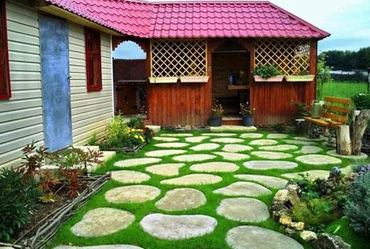 бетонные плиты во дворе