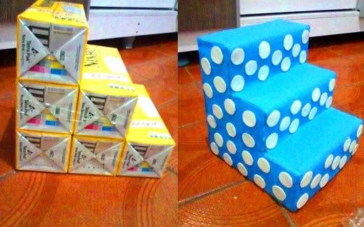 подставка-полка  из пакетов