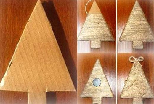 елка из картона мастер класс