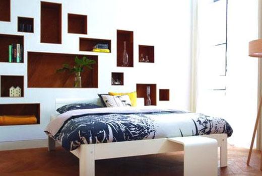 фальш стена изголовье кровати
