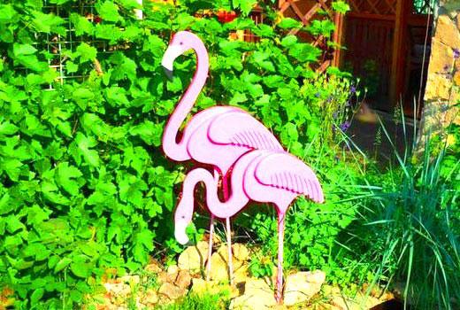 фламинго из фанеры