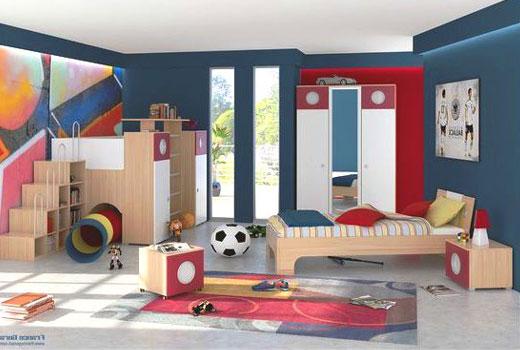 Детская комната с футбольными атрибутами