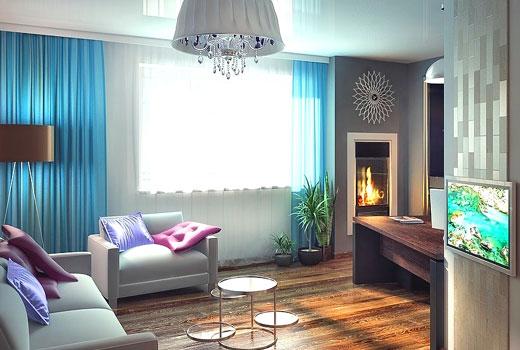цветовая гамма в гостиной
