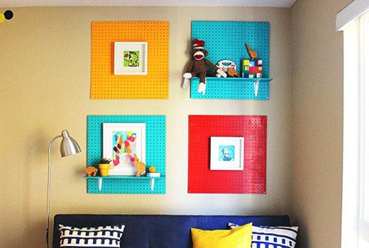Украшения на стенах детской