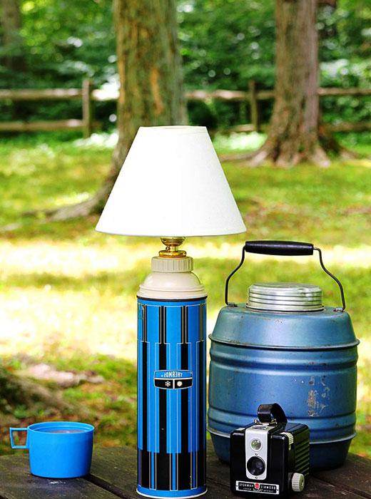 лампа самодельная из термоса