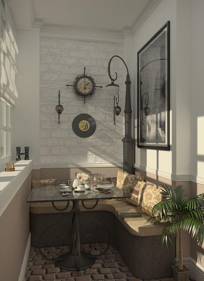 кофейная комната на балконе