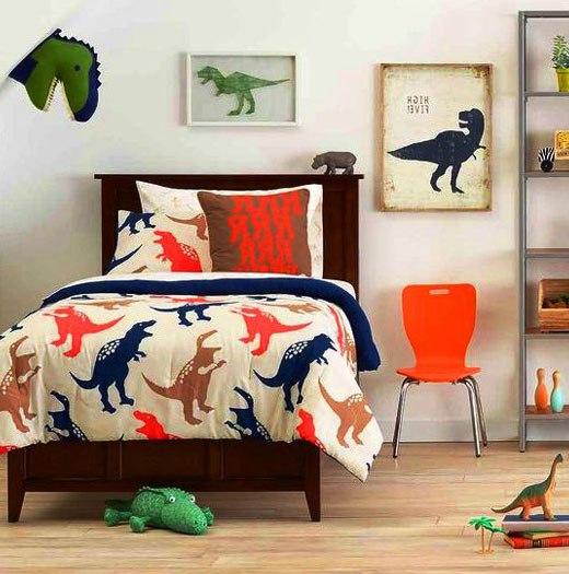покрывало с динозаврами