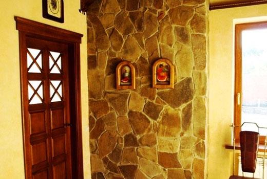 стена камень облицовка