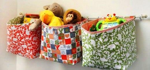 Кармашки из ткани для детской