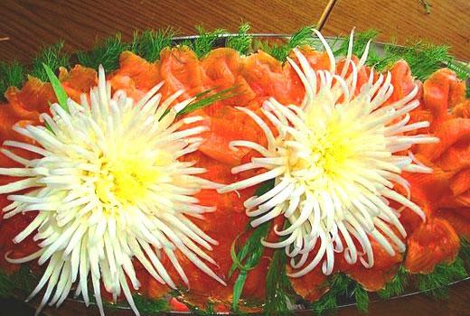 карвинг хризантемы