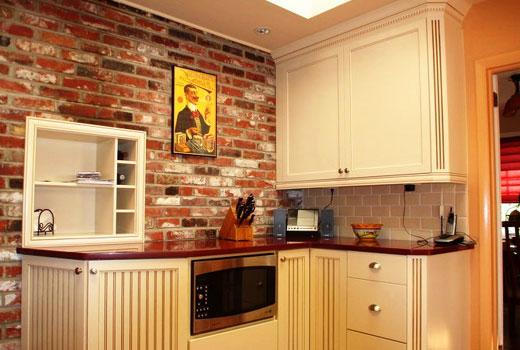 кирпичная плитка на кухне