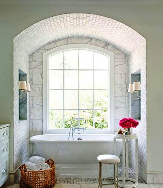 комбинированная отделка в ванной