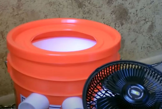 кондиционер из ведра и вентилятора