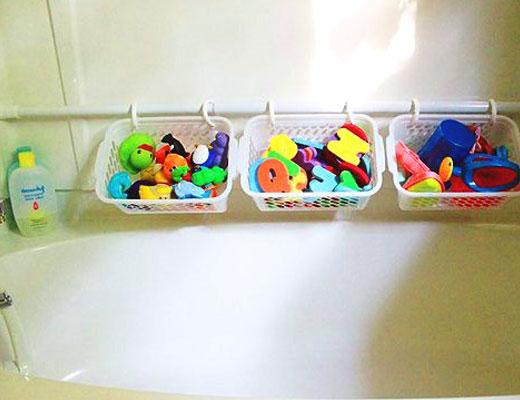 Пластиковые корзинки для игрушек