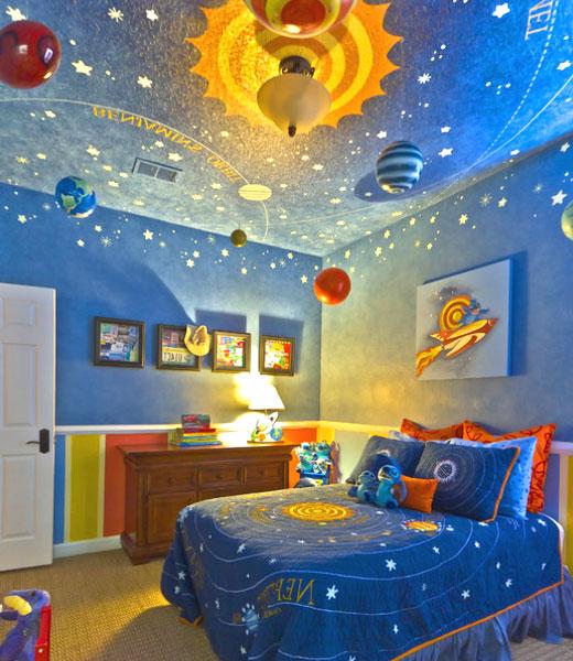 детская в стиле космос