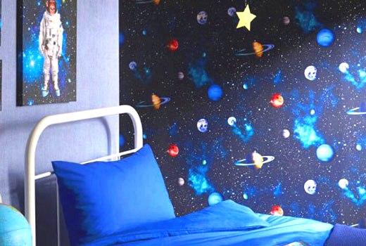 детские обои космос
