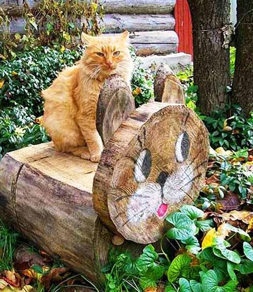 котик скамеечка