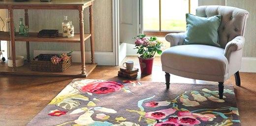 ковер цветы в гостиной