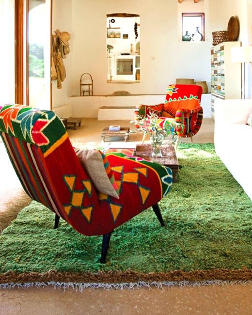 коврик трава в гостиной