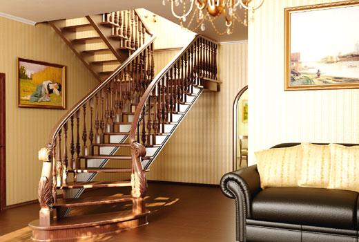 лестница дерево 7