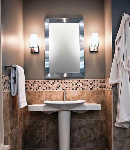 красивая отделка в ванной