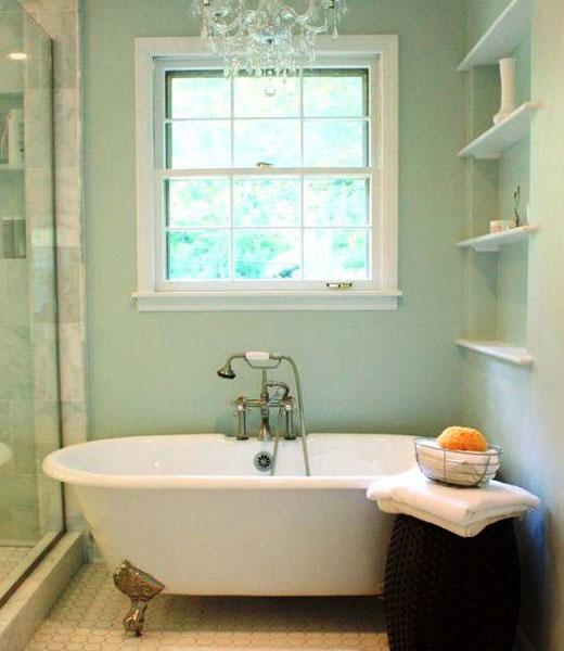 покрасить стены в ванной