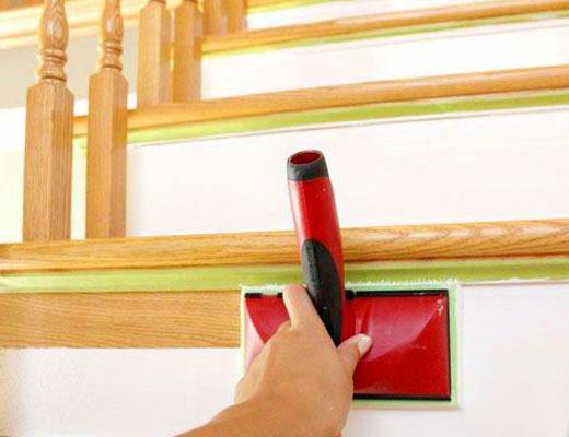 покраска подступенков лестницы