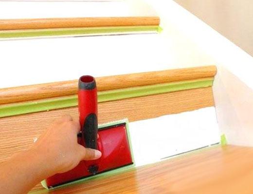 как покрасить подступенки
