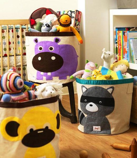 корзины из ткани для игрушек