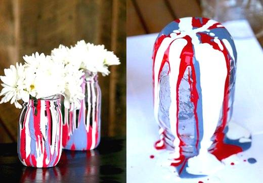 интересное окрашивание вазочки