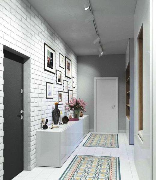 краска и кирпич серый коридор