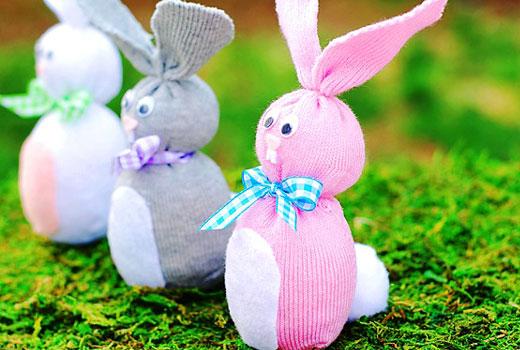 пасхальные кролики с хвостиками