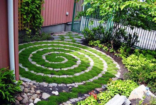 газон спираль