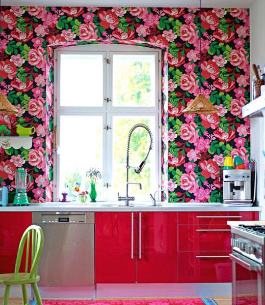 обои розы для кухни