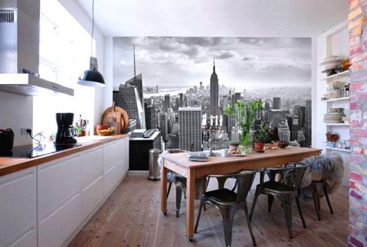 Наклейки на стены кухни