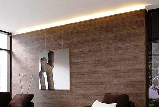 ламинат на стене