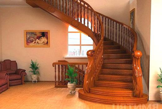 лестница дерево 14