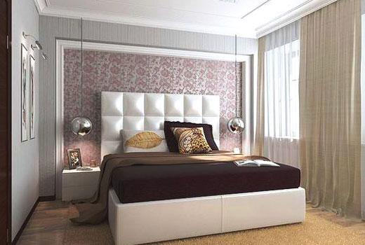 панель изголовье в  спальне