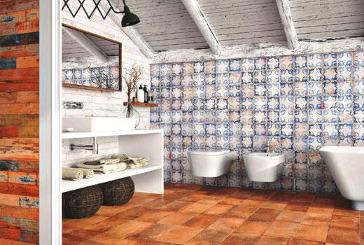 мансарда ванная прованс